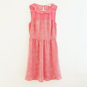 Lauren Conrad High Neck Floral Dress Size 2